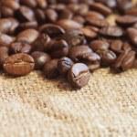 Coffee on sack — Stock Photo