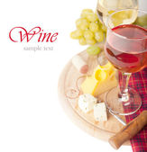 Wine on white background — Stock Photo
