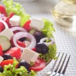 Fresh greek salad. — Stockfoto