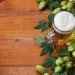 Beer and hop — Stock Photo #14436353