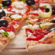 Tasty Italian pizza — Stock fotografie