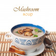 Mushroom cream soup — Photo