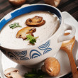 Mushroom cream soup — Stock Photo #20061949