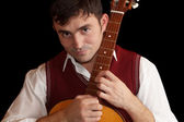Man with a guitar — Stock Photo