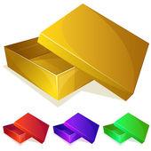 Empty yellow box — Stock Vector
