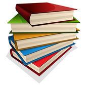 Pila di libri — Vettoriale Stock