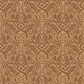 Modèle sans couture marron — Vecteur