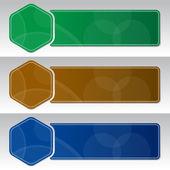 具有三个横幅设计模板 — 图库矢量图片
