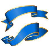 Modrá stuha kolekce — Stock vektor