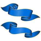 ブルーのリボン コレクション — ストックベクタ