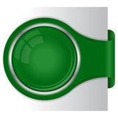 Modern green banner — Stock Vector