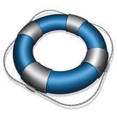 Blue lifebuoy — Stock Vector