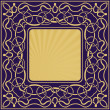 Stock Vector: Gold frame with floral ornamental