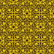 Yellow seamless pattern — Stock vektor