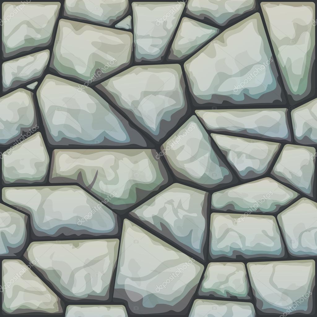 矢量图的灰色石头无缝模式