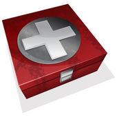 最初の援助キット ボックス — ストックベクタ