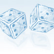 Two ice dices — Stock Vector