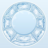 Ice round frame — Stock Vector