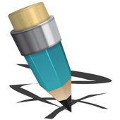 Blue pencil — Stock Vector