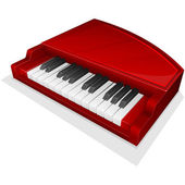 Vector icon. Small red piano — 图库矢量图片