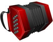 Red concertina — Vector de stock