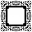 Black frame — Stock Vector