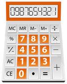 Калькулятор расчеты — Cтоковый вектор