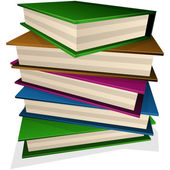 груда книг — Cтоковый вектор