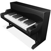 Vector icon. Black piano — Stok Vektör