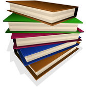 Pile of books — Stock Vector