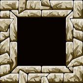 Bruin steen naadloze patroon met frame — Stockvector