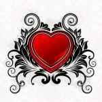 Valentine ornamental heart — Stock Vector #6658122