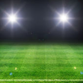 Soccer field — Stock Photo