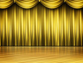 Gold Colored Stage Theater — Stock Photo