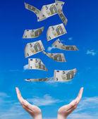 Düşen para — Stok fotoğraf
