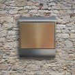 Metal mailbox on wall — Stock Photo