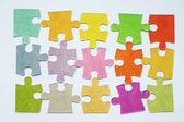Plano de fundo colorido quebra-cabeça — Foto Stock