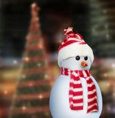 Snowman and christmas — ストック写真