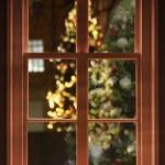 View through the window, christmas — Stock Photo #37168075