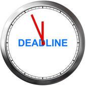 Deadline concept — Stock Photo