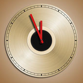 Record recycled into clock — Stock Photo