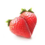Strawberries in heart shape — Stock Photo