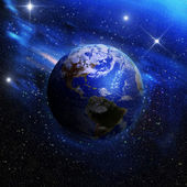 Earth as seen from outer space — Stock Photo