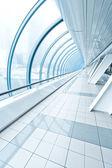 Vanishing transparent hallway — Stock Photo