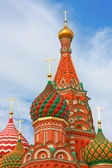 St. Basil's Cathedral on Red square, Moscow, Russia — Foto de Stock