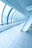 Blue transparent hallway — Stock Photo