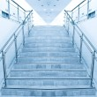 Modern staircase in office center - Stock Photo