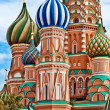 Cathedral of Vasily the Blessed on Red Square Moscow Russia — Stock Photo #16958775