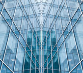 Light blue glass texture of transparent skyscrapers — Stock Photo