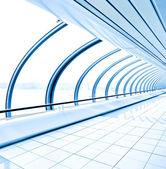 Blue light transparent hallway — Stock Photo